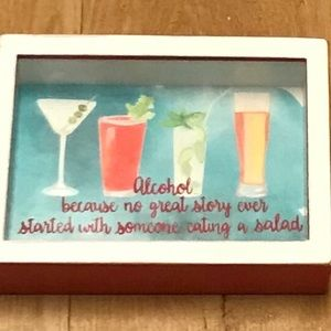 DECORATIVE Alcohol Salad Story Motivational Sign